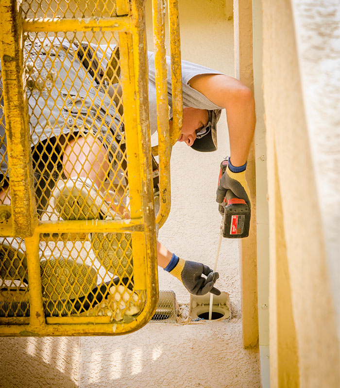 Cleaning Lint Vent from Outside Building | SWFL Dryer Vent Cleaning